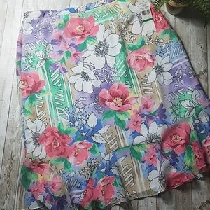 NWT, Alfred Dunner, Floral skirt,  size